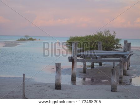 The tide's out and dock's in disrepair