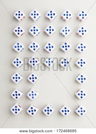 Space Five Cross Pattern