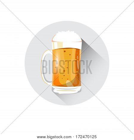 Beer Mug Saint Patrick Day Beer Festival Banner Greeting Card Flat Vector Illustration