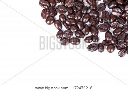 Coffee Beans Isoalted On White Background
