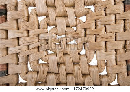 dry water hyacinth weave as a background