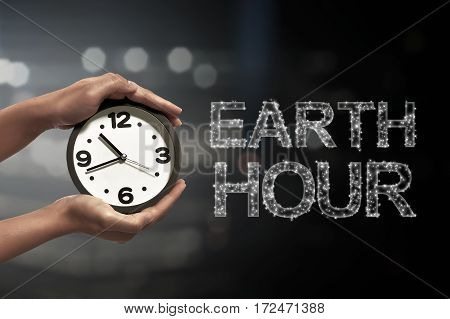 Turn Off The Light In 60 Minute With Earth Hour Message