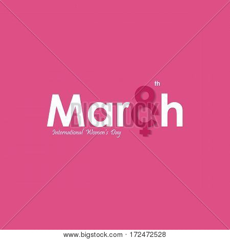 MARCH Typographical Design Elements. International women's day icon.Women's day symbol.Minimalistic design for international women's day concept.Vector illustration