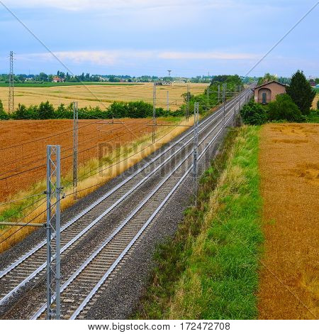 Railway in North Italy