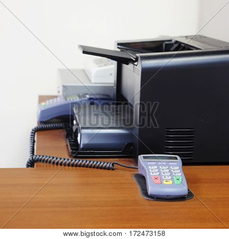 The image of a card reader