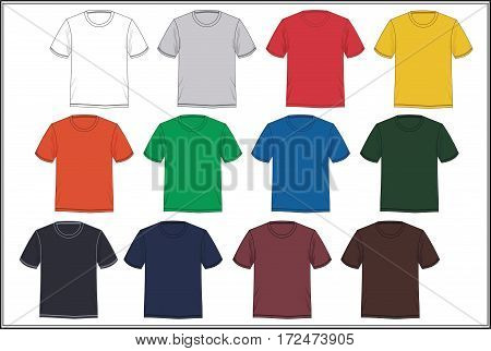 Sketch Template T shirt Design Graphic, Vector.