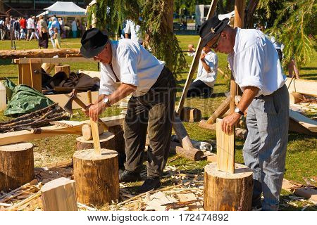 French Alps Traditional Culture Woodworker H