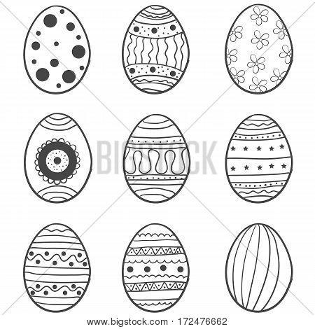 Doodle of easter egg set illustration vector art