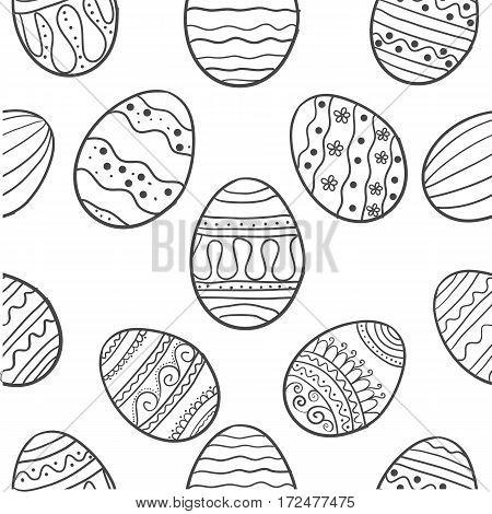 Doodle of easter egg illustration vector art