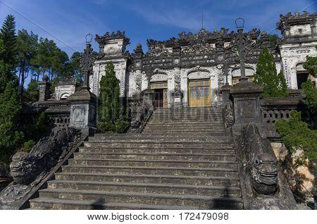 Imperial Khai Dinh Tomb In Hue, Vietnam