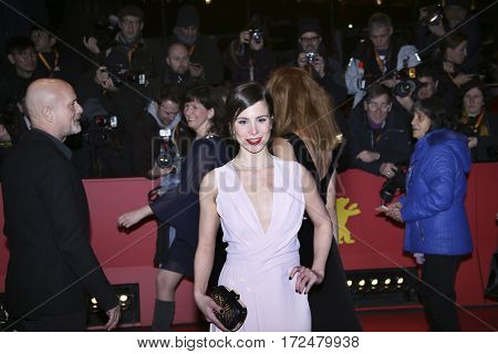 BERLIN, GERMANY - FEBRUARY 18: Aylin Tezel wearing Boss arrives for the closing ceremony of the 67th Berlinale Film Festival Berlin at Berlinale Palace on February 18, 2017 in Berlin, Germany.