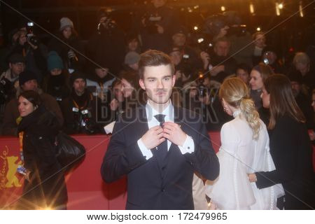 German actor Patrick Moelleken attends the 'Final Portrait' premiere during the 67th Berlinale  Festival Berlin at Berlinale Palace on February 11, 2017 in Berlin, Germany.