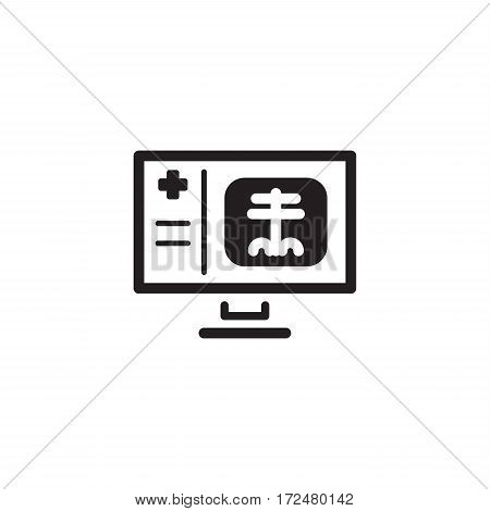 Radiology and Medical Services Icon. Flat Design. Isolated.