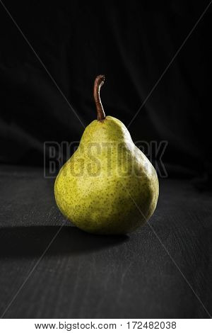 Fresh juicy pear on the table