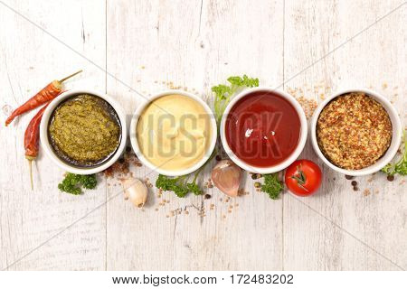assorted dip and sauce