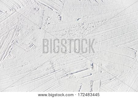 Painting close up of white , light gray color, paint brush strokes  texture for interesting, creative, imaginative backgrounds. For web and design.
