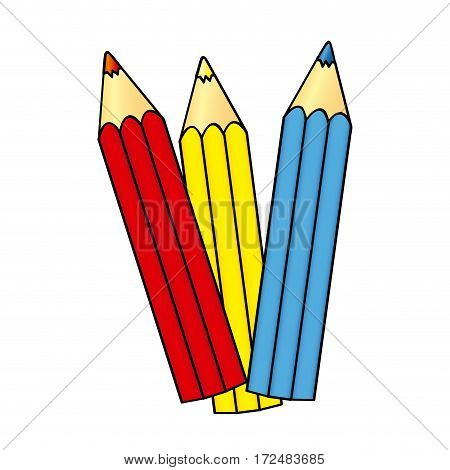 pencil color icon stock, vector illustration design image