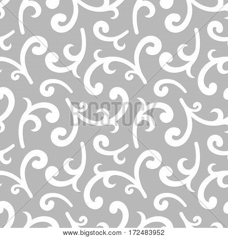 Classic seamless pattern with whorls vector illustration.