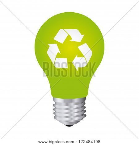 green bulb eco icon, vector illustration design