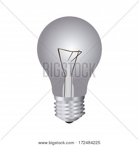 silver bulb icon image, vector illustration design stock