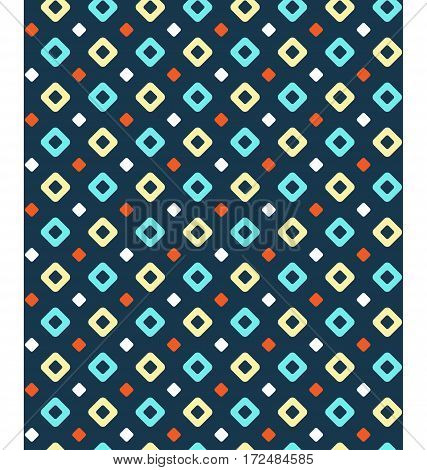 Seamless multicolor geometric bright contrast abstract pattern