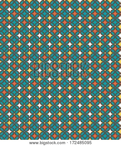 Seamless bright fun abstract modern multicolor geometric pattern