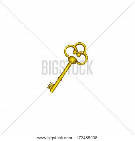 gold old key icon stock, vector illustration image design