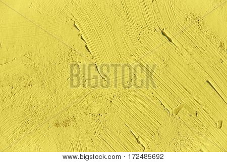 Painting close up of light yellow color, paint brush strokes  texture for interesting, creative, imaginative backgrounds. For web and design.