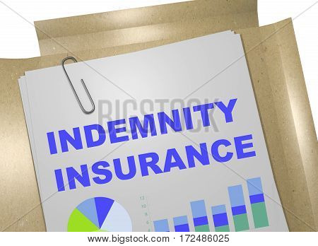 Indemnity Insurance Concept