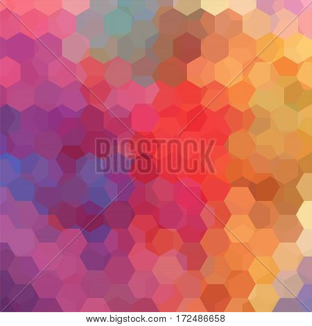 Background Of Geometric Shapes. Colorful Mosaic Pattern. Vector Eps 10. Vector Illustration. Orange,