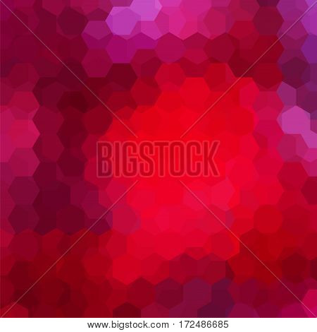 Abstract Background Consisting Of Red, Pink, Purple Hexagons. Geometric Design For Business Presenta