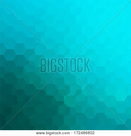 Abstract Background Consisting Of Blue Hexagons. Geometric Design For Business Presentations Or Web