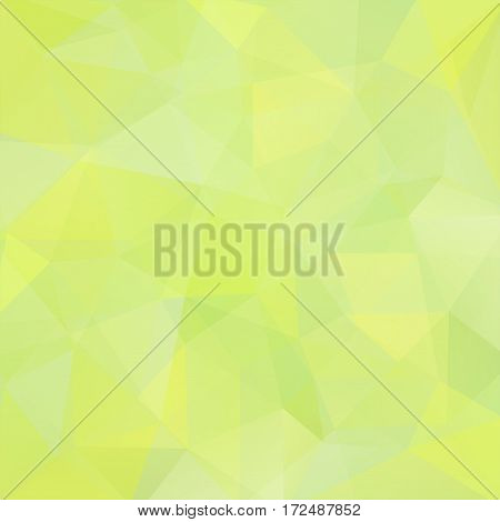 Background Of Pastel Green, Yellow Geometric Shapes. Light Mosaic Pattern. Vector Eps 10. Vector Ill