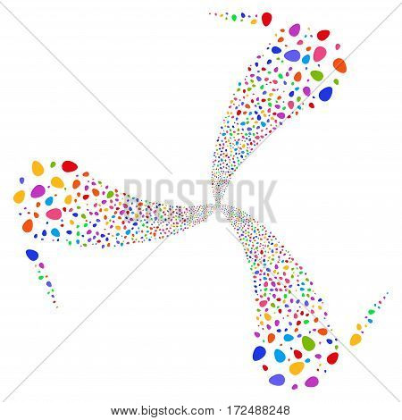 Egg fireworks swirl rotation. Vector illustration style is flat bright multicolored iconic symbols on a white background. Object whirl created from random icons.
