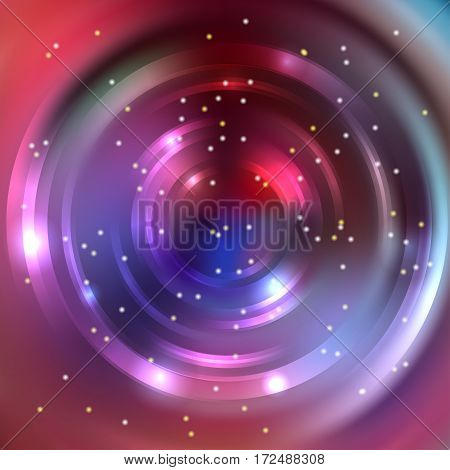 Abstract Background With Luminous Swirling Backdrop. Shiny Swirl Background. Intersection Curves. Br