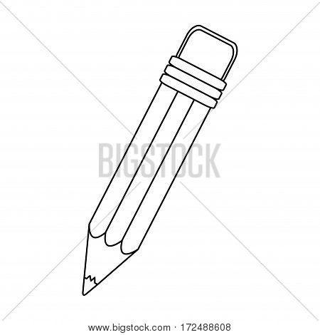 figure pencil icon stock image, vector illustration design