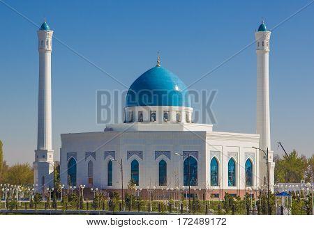 White Mosque Minor In Tashkent, Uzbekistan, 2016