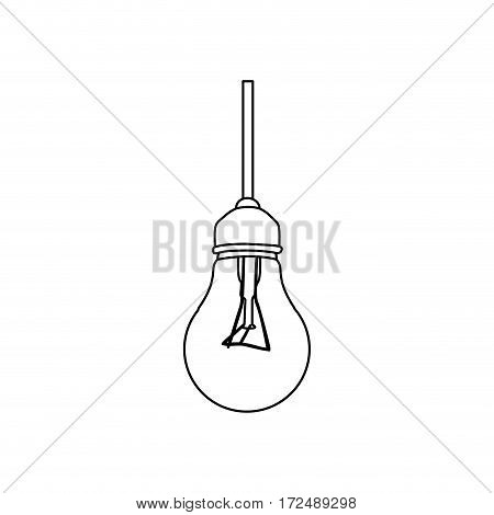 figure bulb hanging icon image, vector illustration design stock