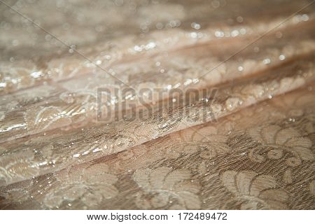 fabric brocade, peach-colored, rectangular background for design