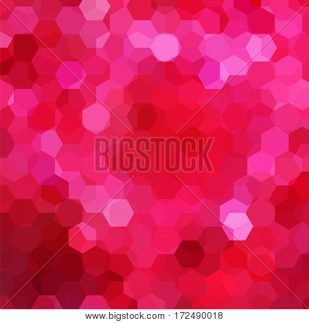 Abstract Background Consisting Of Pink, Red Hexagons. Geometric Design For Business Presentations Or