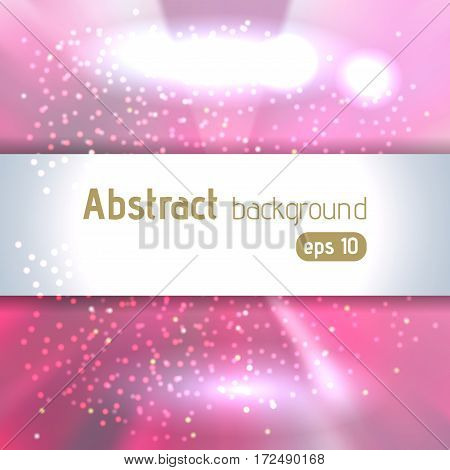 Beautiful Rays Of Light. Shiny Eps 10 Background. Pastel Pink Radial Radiant Effect. Vector Illustra