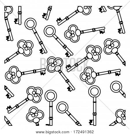 figure old keys icon stock, vector illustration image design