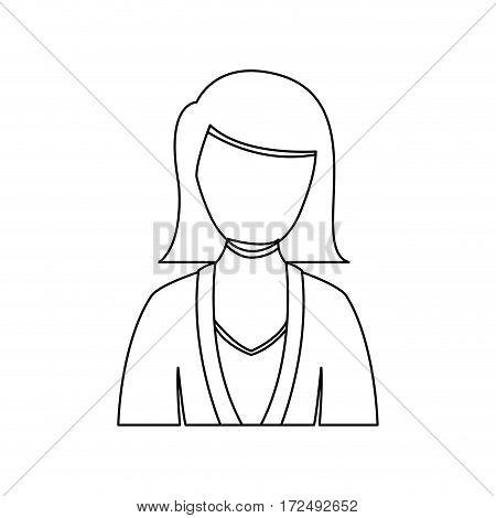 figure people formal woman icon, vector illustration image