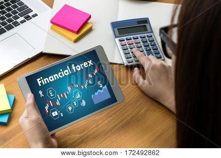 Financial Forex Stock Market, Financial, Business Candle Stick Graph Chart