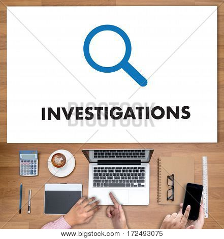 Investigations  Business Concept. Detective And Crime Scene