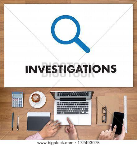 Investigations  Business Concept. Detective And Crime Scene