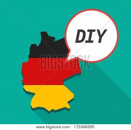 Long Shadow Germany Map With    The Text Diy