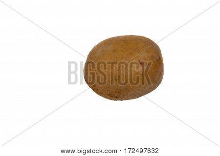 One potato isolated on the white background