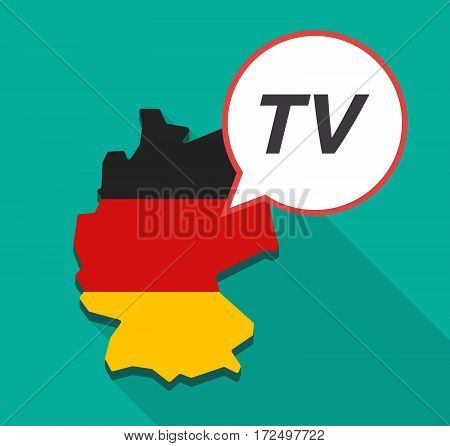 Long Shadow Germany Map With    The Text Tv
