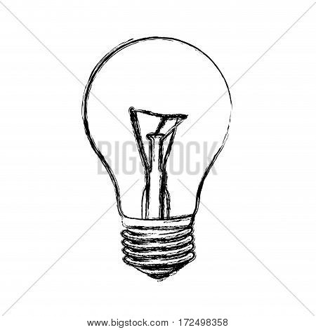 contour bulb icon image, vector illustration design stock
